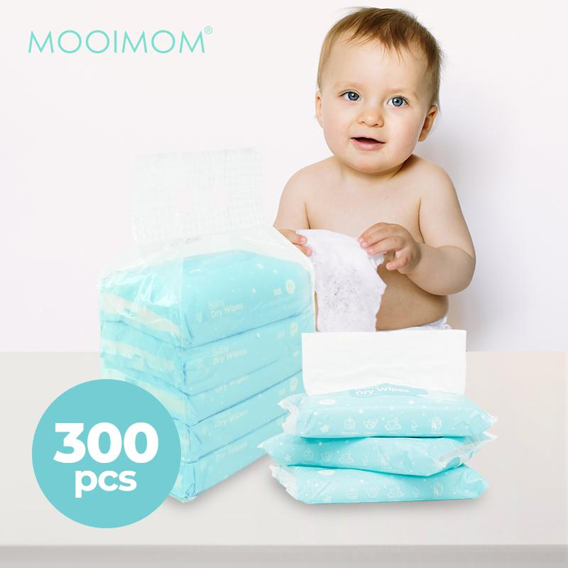 MOOIMOM Baby Dry Wipes Pack @300 Wipes