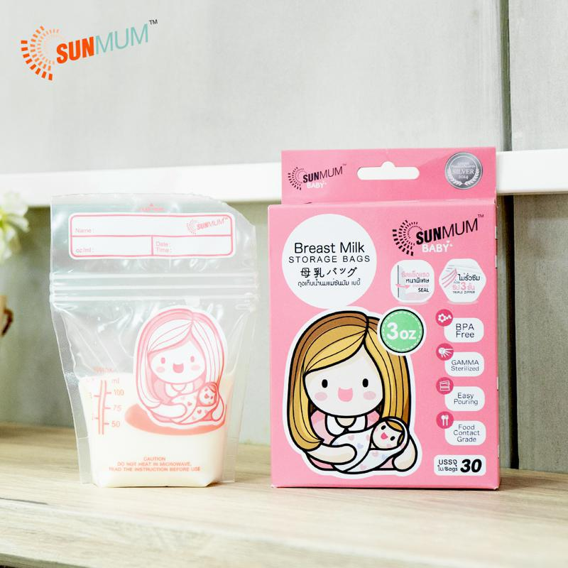 Sunmum Breastmilk Storage Bags - 30P