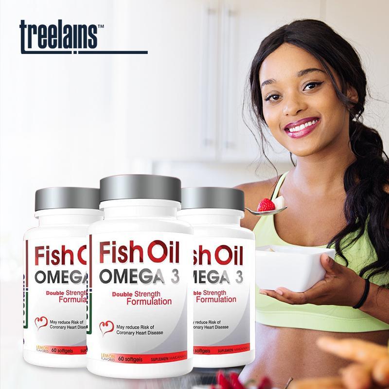 Treelains Vitamin Fish Oil Omega 3 Double 1000mg 60 pcs