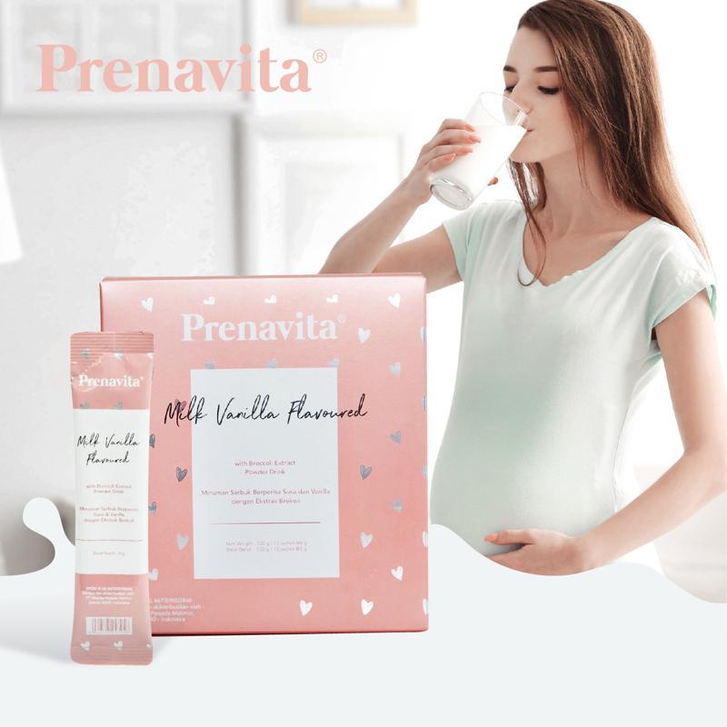 Prenavita Supplemen Hamil Milk Vanilla Flavoured Power Drink