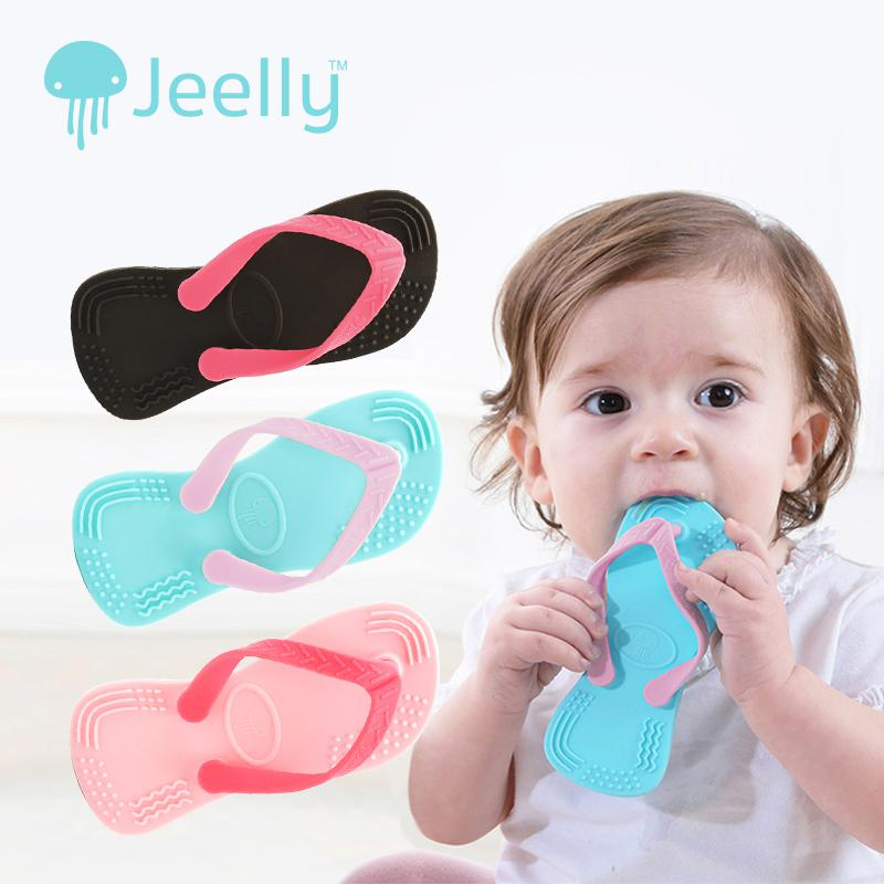 Jeelly Sandals Teether (Black)