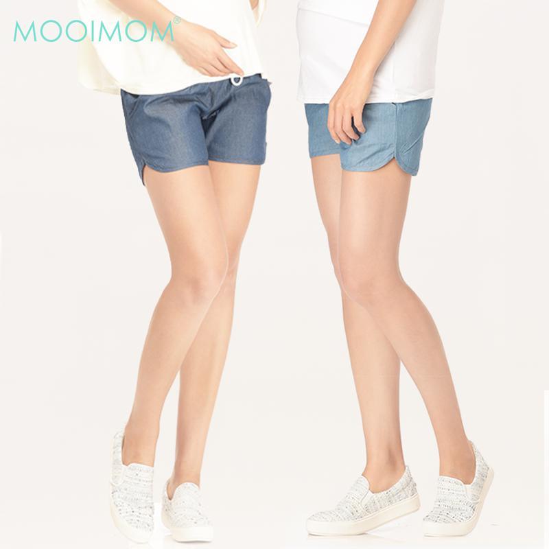 MOOIMOM Denim Maternity Shorts
