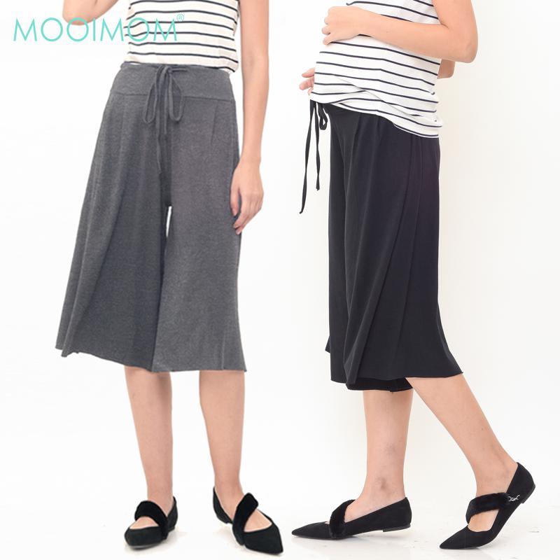 MOOIMOM Cotton Wide Leg Trouser