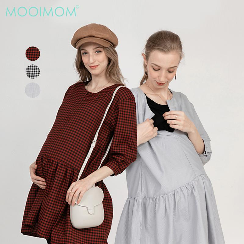MOOIMOM Maternity & Nursing Blouse with Concealed Zip