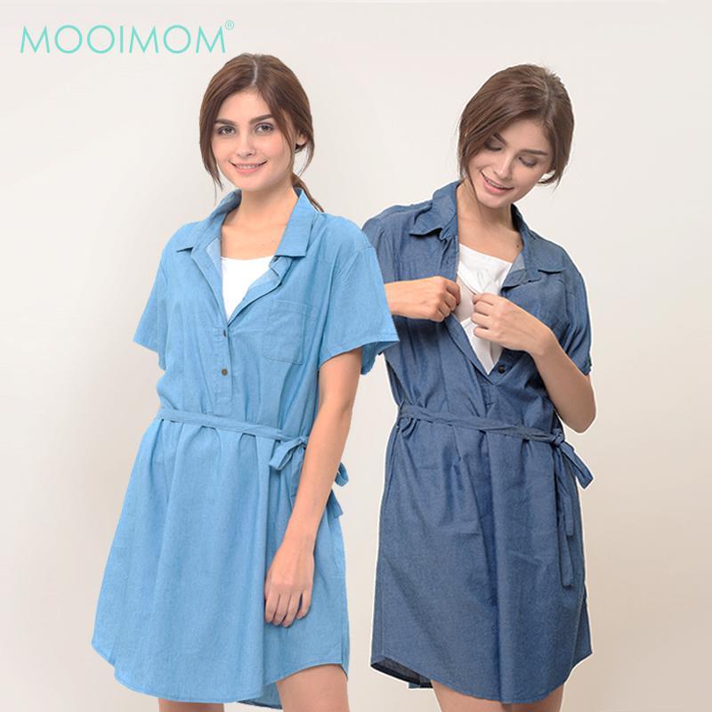 MOOIMOM Denim Nursing Dress