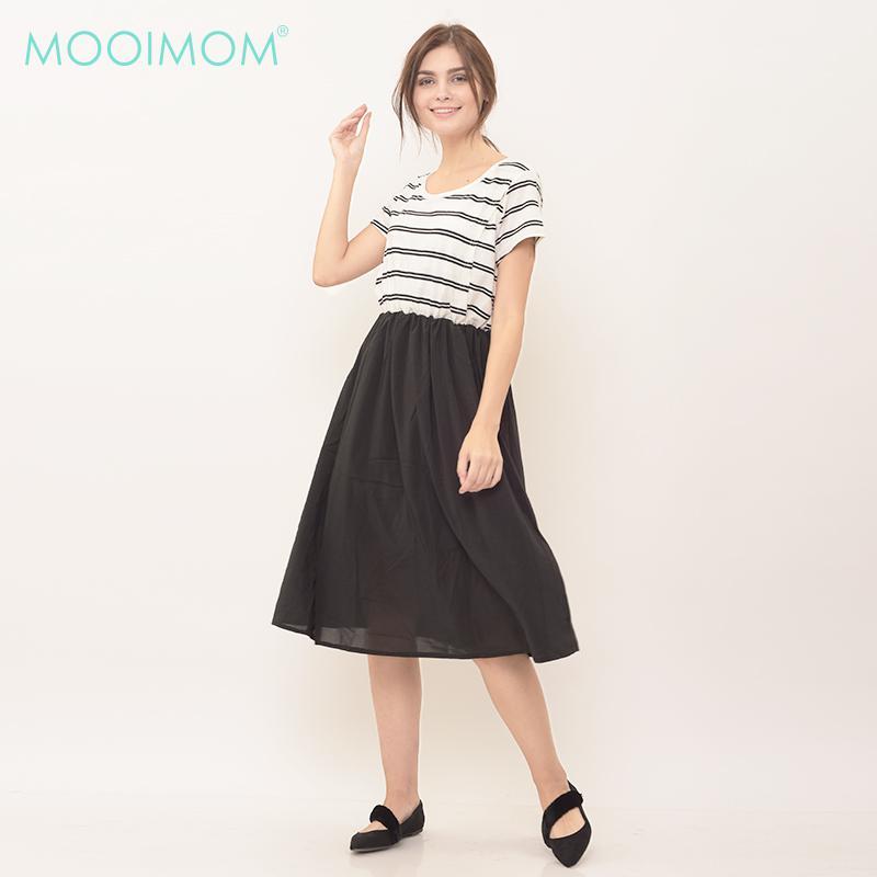 MOOIMOM Tulle Midi Nursing Dress