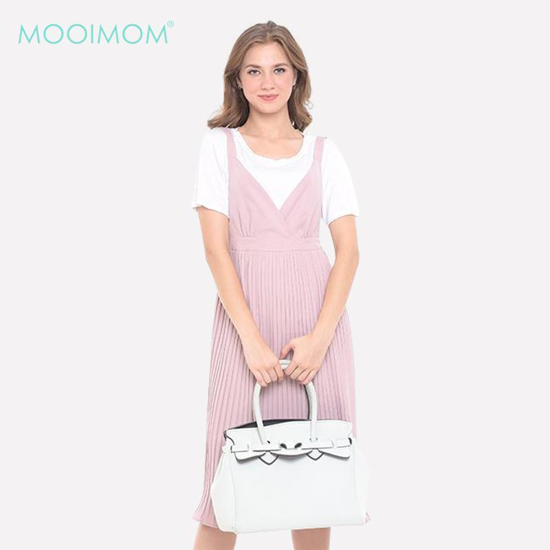 MOOIMOM 2 Pieces Maternity & Nursing Overall Pink