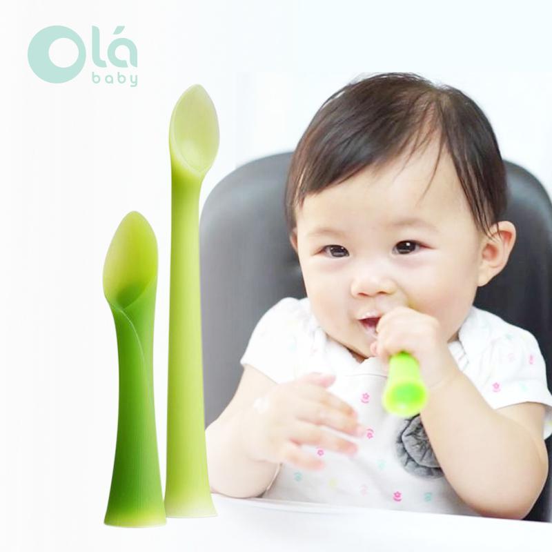 Olababy Feeding Spoon and Training Spoon - 2Pk