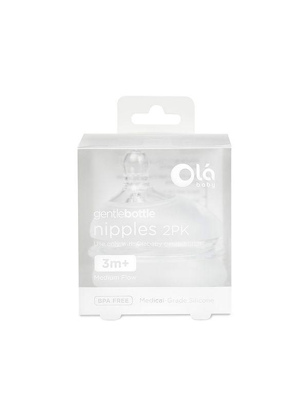 Olababy Gentlebottle Medium Flow Nipple 3M+ - 2Pk