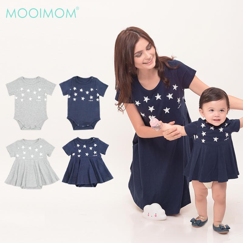 MOOIMOM Starry Sky Nursing Dress + Baby Clothes