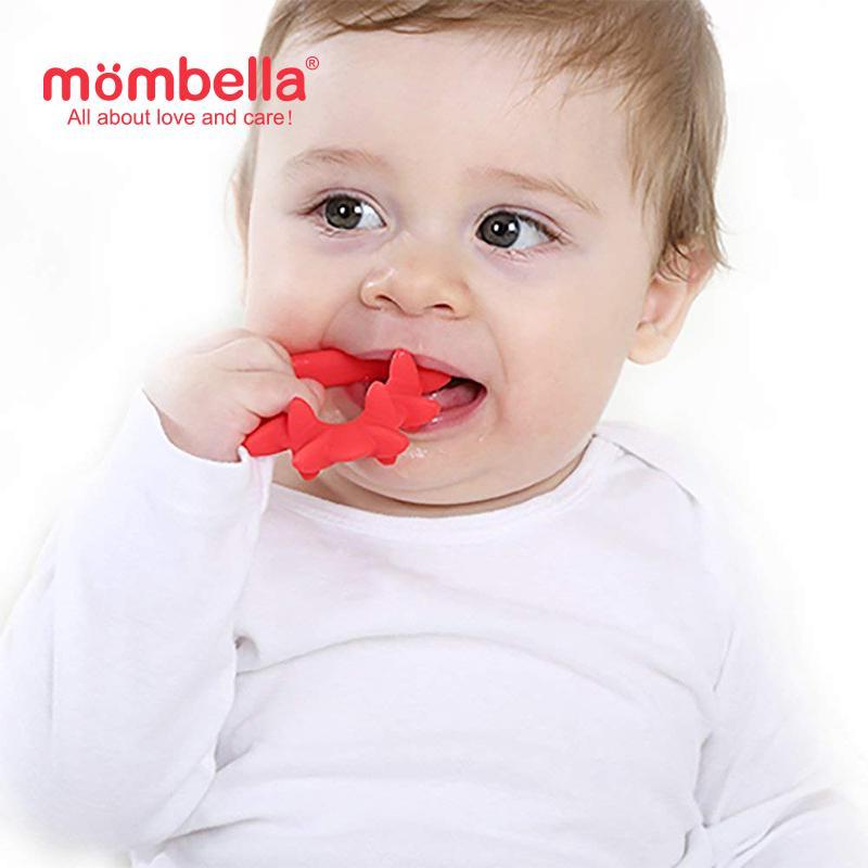 Mombella Educational Geometry Sensory Teether Toy Set Hedgehog